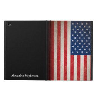 Nombre con monograma de la bandera americana del