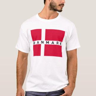 nombre danés del texto del país de la bandera del playera