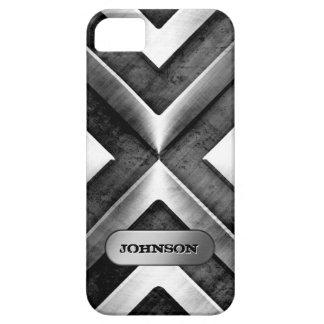 Nombre de acero cepillado fresco del personalizado iPhone 5 funda