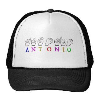 NOMBRE DE ANTONIO ASL FINGERSPELLED GORROS