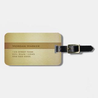 Nombre de cobre amarillo cepillado del etiquetas para maletas