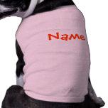 Nombre de DIY - rosa de las camisetas sin mangas Playera Sin Mangas Para Perro