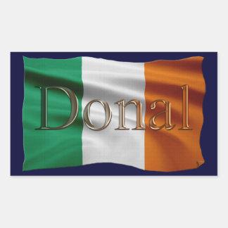 Nombre de DONAL y pegatinas personalizados bandera Rectangular Pegatina