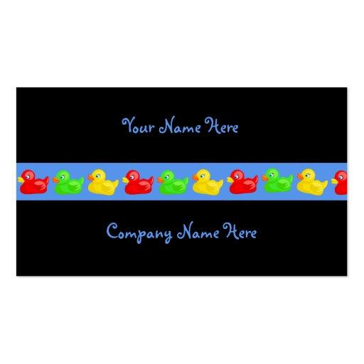 Nombre de Duck Banner, Your Name Here, Company aqu Tarjeta De Visita
