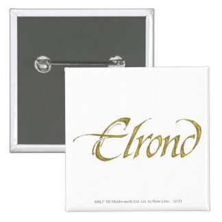 Nombre de Elrond texturizado Pins