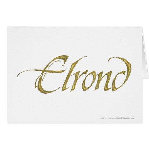 Nombre de Elrond texturizado Tarjetas