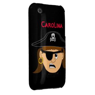 Nombre de encargo adaptable lindo del chica del funda bareyly there para iPhone 3 de Case-Mate