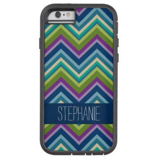 Nombre de encargo azul de la cal púrpura colorida funda de iPhone 6 tough xtreme