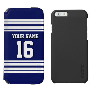 Nombre de encargo blanco del número del jersey de funda billetera para iPhone 6 watson