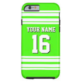 Nombre de encargo blanco del número del jersey de funda para iPhone 6 tough