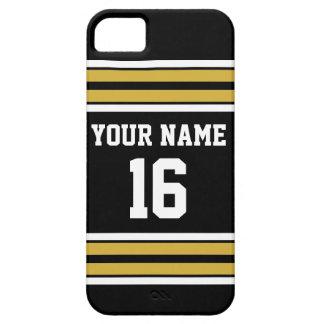 Nombre de encargo blanco del número del jersey de iPhone 5 carcasas