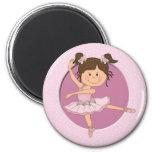 Nombre de encargo de la bailarina 1 rosado lindo imanes