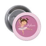 Nombre de encargo de la bailarina 1 rosado lindo pin