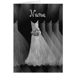 Nombre de encargo de la DAMA DE HONOR - vestidos Tarjeta De Felicitación