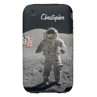Nombre de encargo de los muchachos del espacio del tough iPhone 3 protector