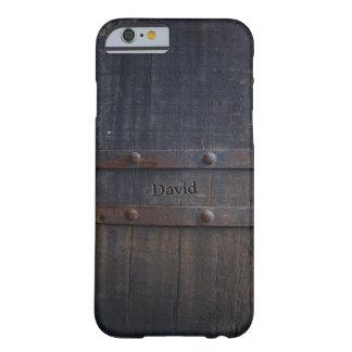 Nombre de encargo de madera del granero viejo del funda barely there iPhone 6
