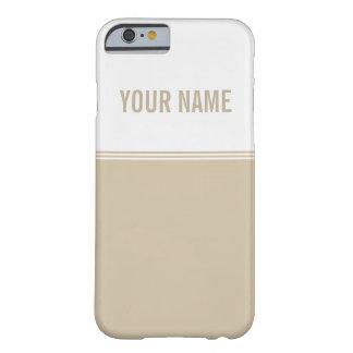 Nombre de encargo de marfil poner crema de las funda para iPhone 6 barely there