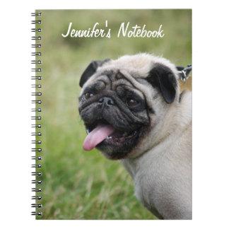 Nombre de encargo del cuaderno del perro del barro