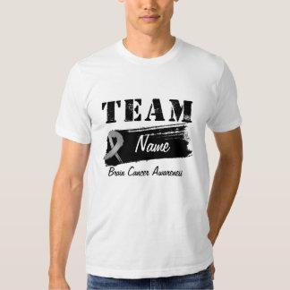 Nombre de encargo del equipo - cáncer de cerebro playeras