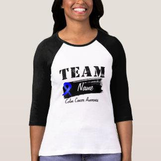 Nombre de encargo del equipo - cáncer de colon camiseta