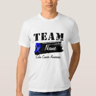 Nombre de encargo del equipo - cáncer de colon playeras