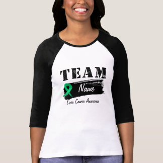 Nombre de encargo del equipo - cáncer de hígado camisetas