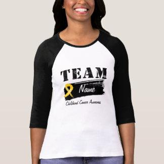 Nombre de encargo del equipo - cáncer de la niñez camisas