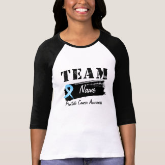 Nombre de encargo del equipo - cáncer de próstata camiseta