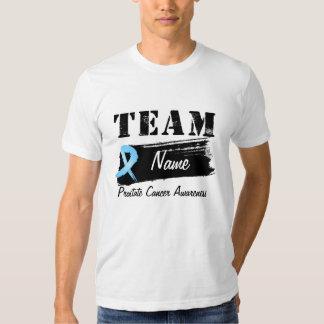 Nombre de encargo del equipo - cáncer de próstata remeras