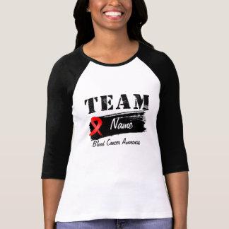 Nombre de encargo del equipo - cáncer de sangre camiseta