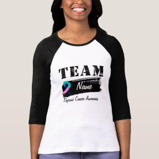 Nombre de encargo del equipo - cáncer de tiroides camisas