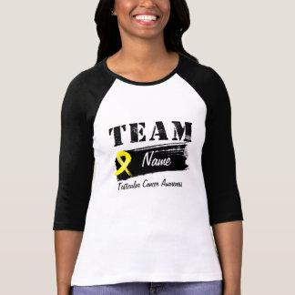 Nombre de encargo del equipo - cáncer testicular camisetas