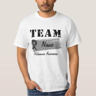 Nombre de encargo del equipo - melanoma playera