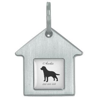 Nombre de encargo del perro de Labrador y etiqueta Placas Mascota