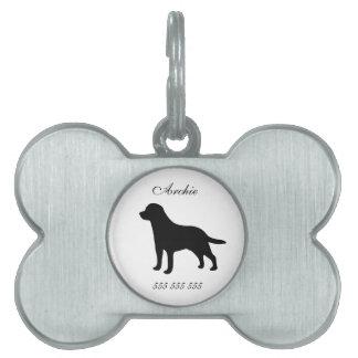 Nombre de encargo del perro de Labrador y etiqueta Placas De Mascota