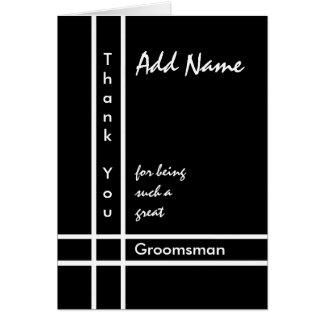 Nombre de encargo - el boda del padrino de boda le tarjeta