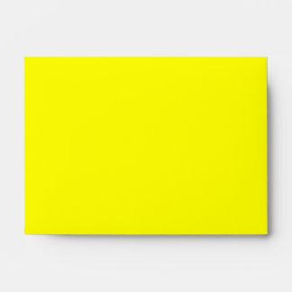 Nombre de encargo. Fiesta 2011. Amarillo y negro Sobres