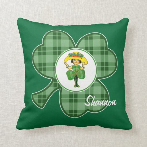 Nombre de encargo. Princesa irlandesa Gift Pillows Almohadas