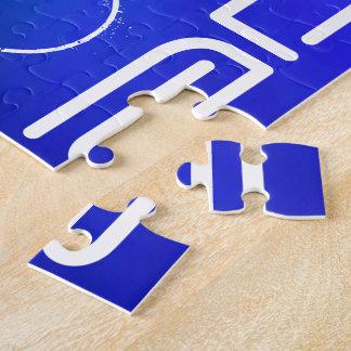 Nombre de encargo; Púrpura blanco y abstracto, Puzzle