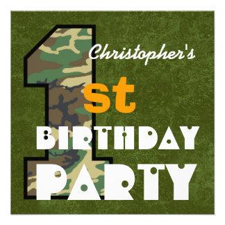 Nombre de encargo V01 del 1r estilo del cumpleaños Invitación