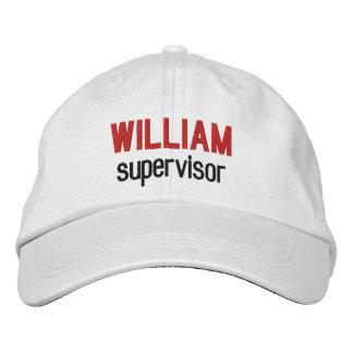 Nombre de encargo V14M del SUPERVISOR del sinónimo Gorras De Beisbol Bordadas
