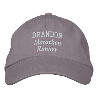 Nombre de encargo V18 del corredor de maratón Gorra De Béisbol Bordada