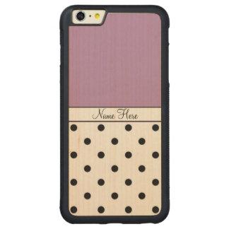 Nombre de encargo violeta, monograma negro de los funda de arce bumper carved® para iPhone 6 plus