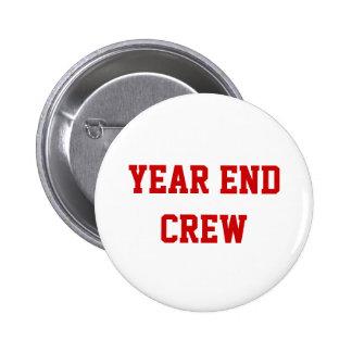 Nombre de finales de ano del equipo de la contabil pin redondo 5 cm
