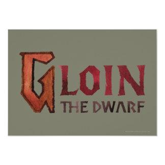"Nombre de Gloin Invitación 5"" X 7"""