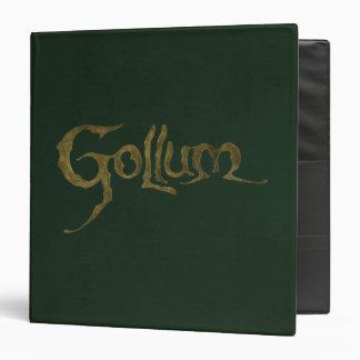 """Nombre de Gollum - texturizado Carpeta 1 1/2"""""""