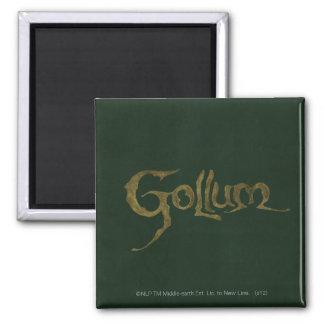 Nombre de Gollum - texturizado Imán De Frigorífico