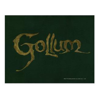 Nombre de Gollum - texturizado Postales