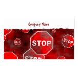 Nombre de Grunge Stop Signs, Company Tarjetas De Visita