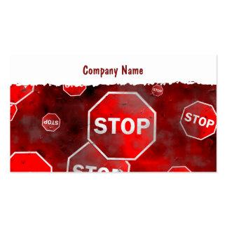 Nombre de Grunge Stop Signs, Company Plantillas De Tarjetas Personales
